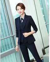 Overalls long pants profession business suit 3pcs set