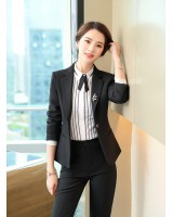 Business shirt fashion long pants 3pcs set for women
