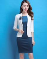 With corsage business suit dress 2pcs set