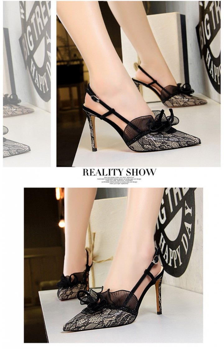 Slim fashion stilettos lace sandals for women