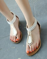 Rhinestone rome national style sandals for women