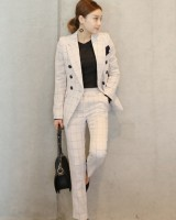 Fashion autumn lapel business suit 2pcs set for women