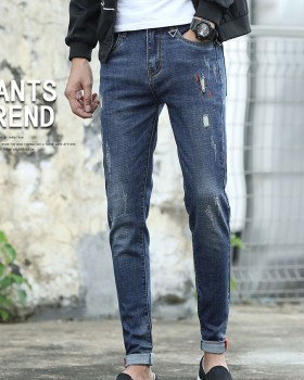 Autumn slim jeans elasticity fashion pants for men