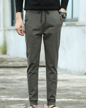 Slim casual pants Korean style long pants for men