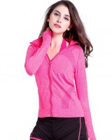Fitness zip coat Casual long sleeve tops