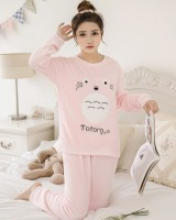 Cat winter student lovely homewear pajamas a set for women