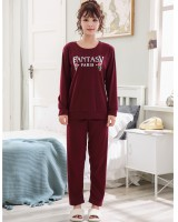 Long sleeve thin spring homewear pajamas a set for women