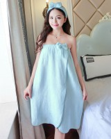 Homewear headband wrapped chest night dress for women