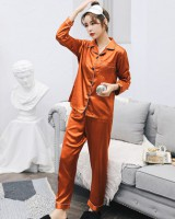 Spring and autumn long sleeve pajamas a set for women