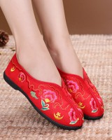 Soft soles national style cozy colors cloth shoes for women