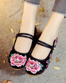 National style summer embroidered cloth shoes for women