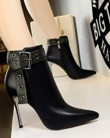 European style pointed boots rivet short boots