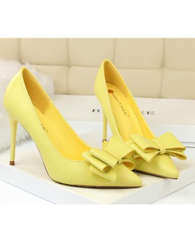 Candy colors pointed shoes sweet slim stilettos for women