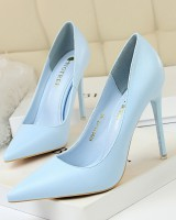 Low slim shoes Korean style simple high-heeled shoes