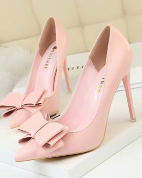 Low slim stilettos fashion high-heeled shoes