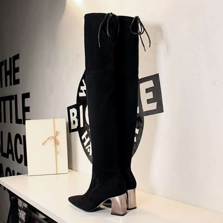 Long tube slim women's boots nightclub thigh boots