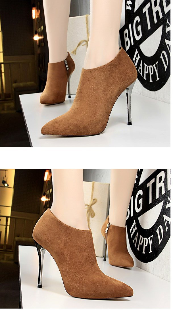 Sexy pointed women's boots high-heeled ankle boots