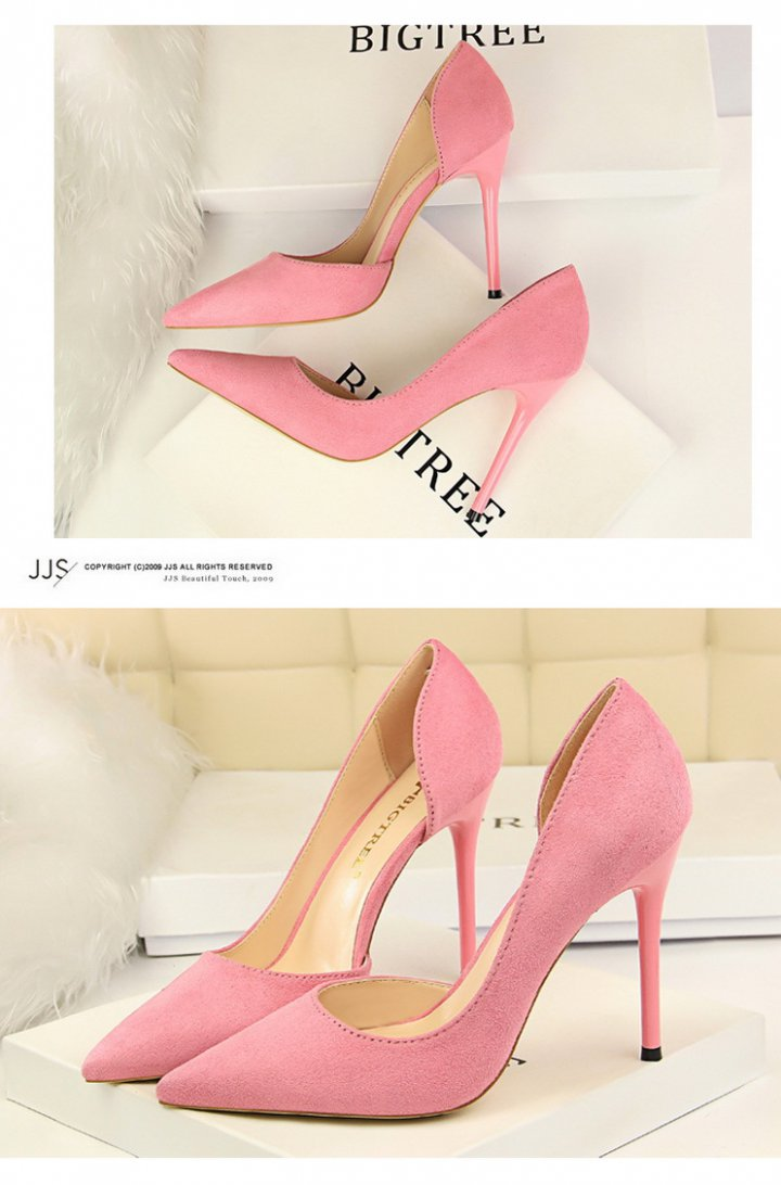 Nightclub pointed broadcloth fine-root sexy hollow shoes