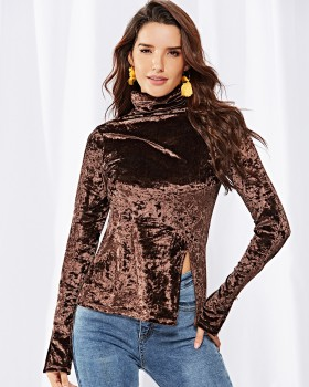 Autumn and winter European style tops for women