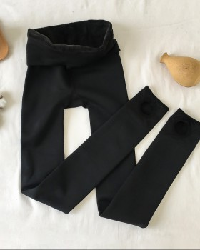 Thermal plus velvet thick leggings slim autumn and winter tights