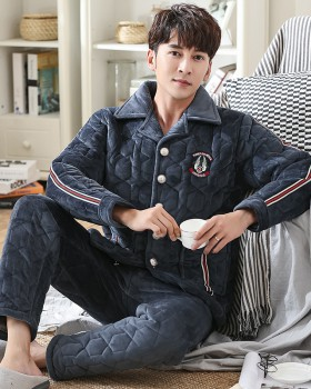 Thick thermal homewear plus cotton loose pajamas a set for men