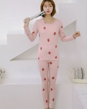 Autumn and winter underwear pajamas 2pcs set for women