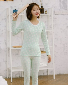 Autumn and winter pajamas underwear 2pcs set for women