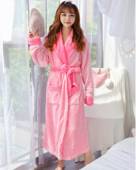 Autumn and winter pajamas Casual nightgown for women
