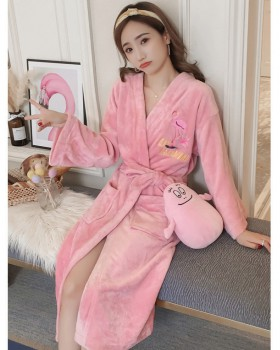 Homewear autumn and winter sexy nightgown for women