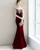 Annual meeting host evening dress slim formal dress for women