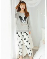 Thick homewear pajamas sweet casual wear 2pcs set