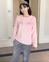 Long sleeve homewear pajamas 2pcs set for women