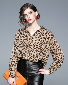 Fashion lazy tops leopard shirt