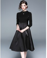Big skirt European style fashion black dress