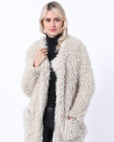 Casual slim thermal coat lamb fur faux fur jacket