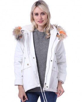Liner fox fur overcoat long fur coat for women
