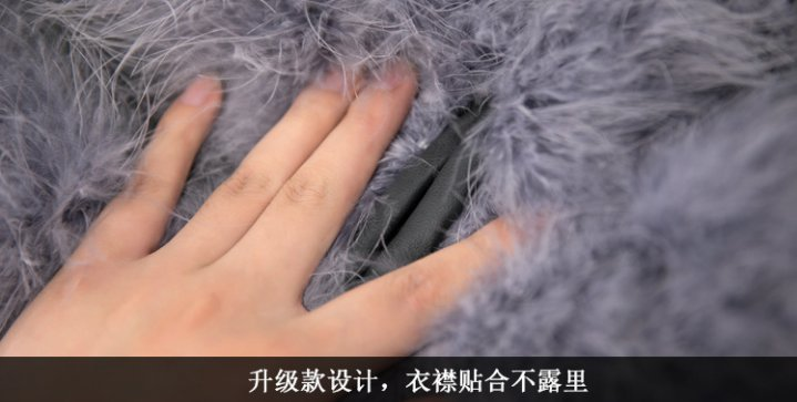 Splice short coat slim fur coat for women