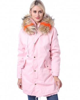 Autumn and winter liner cotton coat pure coat for women