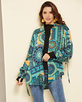Loose national style shirt European style colors tops