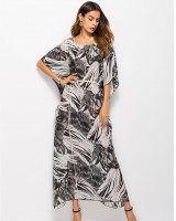 Spring and summer leopard dress chiffon long robe
