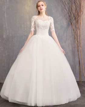 Short sleeve fashion formal dress bride wedding dress