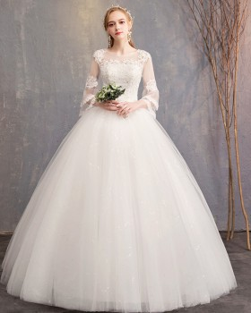 Slim large yard wedding pregnant woman wedding dress