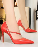 Korean style shoes low high-heeled shoes for women