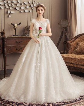 Wedding floor length wedding dress bride formal dress