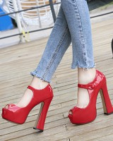 Fashion European style high-heeled shoes elegant high platform