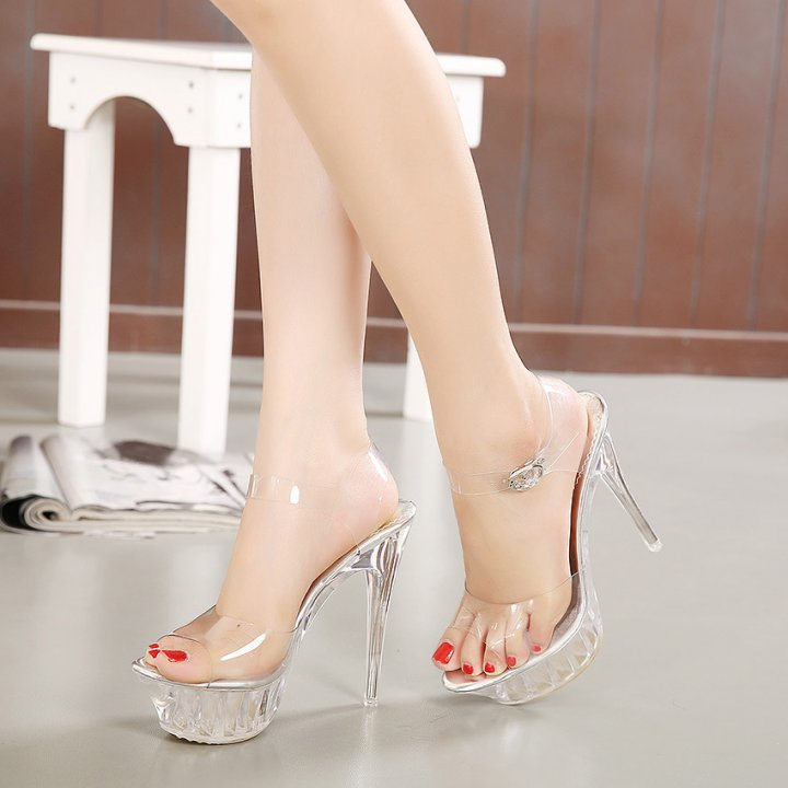 European style sandals high-heeled high-heeled shoes