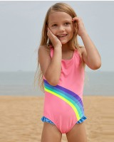 Spa European style wicking sleeveless conjoined printing swimwear