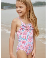 Multilayer conjoined child swimwear a set
