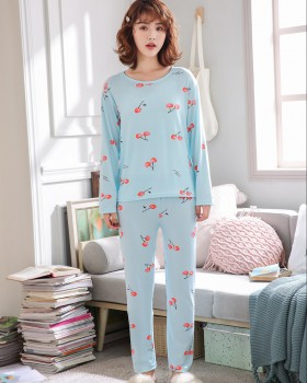 Student lovely long sleeve pajamas a set for women