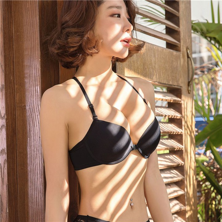 Gather front buckle Bra beauty back small chest underwear